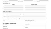Dubai vizesi başvuru formu